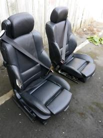 Bmw e46 M sport seats black leather M3 (vw transporter vivaro camper)
