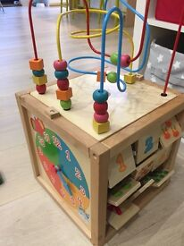 Mothercare ELC giant activity wooden cube toy