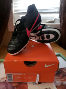 Size 13 Nike girls soccer cleats