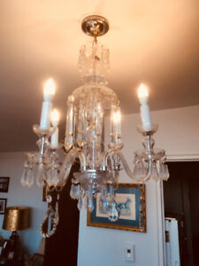 Four Branch Crystal Chandelier As Is Final Reduction