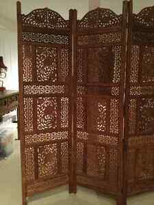 Indonesian carved wood room divider / paravent indonésien bois Gatineau Ottawa / Gatineau Area image 2