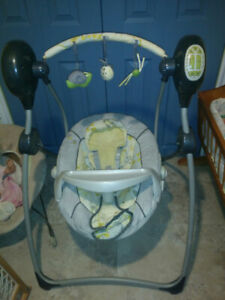 Baby swing play music and soothing sound