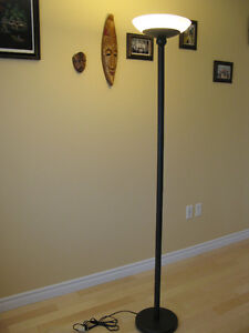 Iron Floor Lamp with glass shade