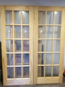 Brand new 32 x 80 Milette French Doors ( 4 available)