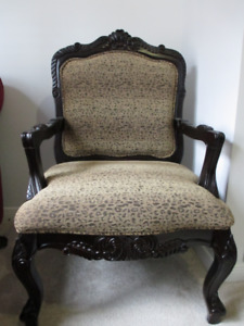 Antique looking chair and ottoman