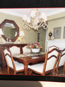 French Country Dining Suite (table & chairs, seats 8 - 12ppl)