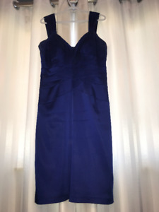 Royal Blue Satin Dress  Size 14