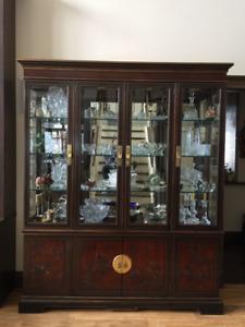 Antique Oriental China Cabinet
