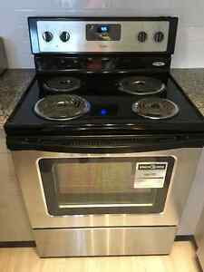 New Whirlpool stainless steel stove