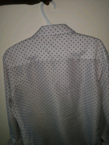 Men's White Patterned Casual Dress shirt