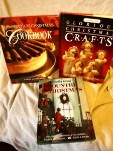 3 Christmas Books, crafts and cook book.