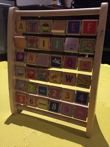 New Educo Alphabet abacus / Wooden counting toy