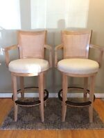 Two Stools with Bar Height Table