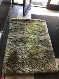 Lime green fluffy rug