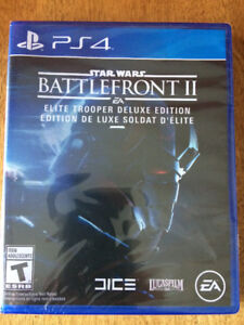 NEVER OPENED... Game - PS4 - Star Wars Battlefront II