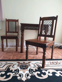 Beautiful solid handmade table & chairs