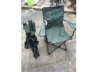 2 fishing camping chairs