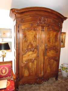 Early-18th-century French provincial Regence walnut  armoire