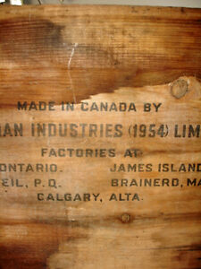 1954 EXPLOSIVE DYNAMITE CRATE Canadian Indust. INDUSTRIAL CHIIC Cambridge Kitchener Area image 5