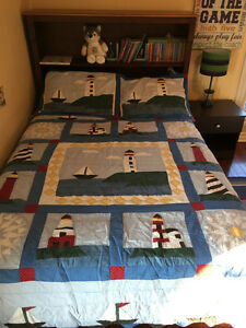 Boys Double/Queen Quilt Set - Lighthouses