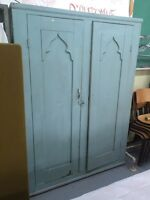 ❣ Old Solid Wood Armoire Rustic