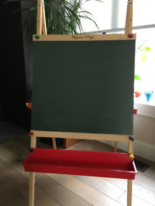 Melissa and Doug easel with chalkboard