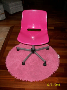Ikea Pink Chair & Rug