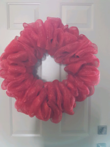 Red Christmas wreath for door