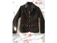 Ladies Vintage Cord Quilted Barbour Jacket