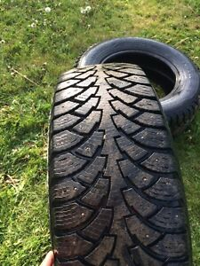 Two Studded Winter Tires