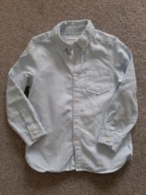 2-3 year old boy striped blue shirt