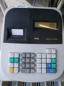 Royal Alpha 435dx used cash register, space saving model,working