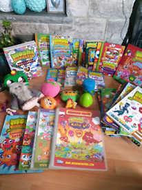MOSHI MONSTER LARGE COLLECTION BINDERS CARDS BOOKS MAGAZINES 50+ ITEMS