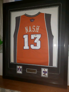 Signed and framed Steve Nash Jersey
