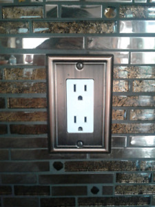 Copper light switch and electrical covers