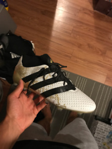 Adidas Men's Ace 16.1 Primeknit (white and gold) - Size 10