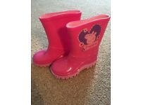 Toddler pink peppa pig wellies size 5/22