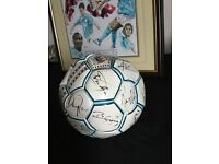 Manchester City signed ball and shirt! And picture
