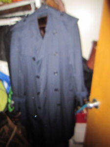 Burberry Trench Over Coat  Jacket Made in England  Blue New Mens