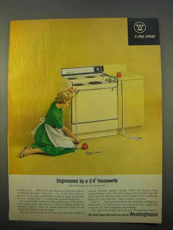 1963 Westinghouse Terrace Top Electric Range Ad