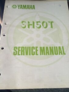 1987 Yamaha Factory SH50T Service Manual