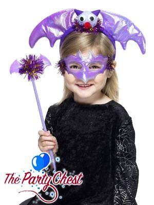 GIRLS HALLOWEEN INSTANT BAT SET Fun Halloween Childrens Fancy Dress Costume - Vampir Instant Kostüm
