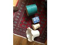 Quirky, Vintage lampshades x 4
