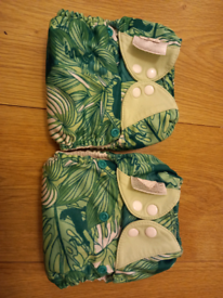 2 x Bum Genius Elemental All in One Reusable Cloth Nappies Jungle Book
