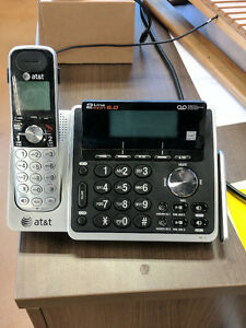 AT&T TL88102 DECT 6.0 2-Line Cordless Phone with Digital Answeri