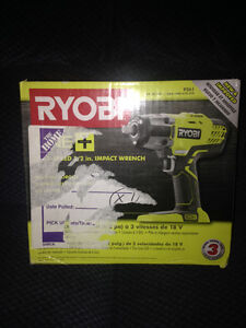 Brand New in the box Ryobi one + 3 speed 1/2 inch impact wrench