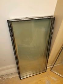 Four double glazing panels