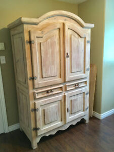 Solid Wood Armoire - Excellent Condition