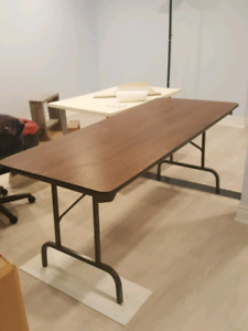 Wood top fold table