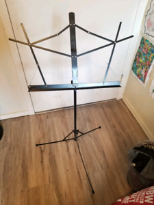 Black Steel Musical Stand.